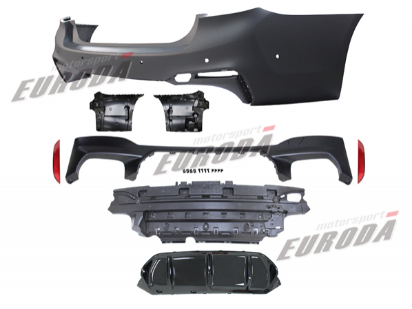 REAR BUMPER FOR BMW G30 (M5 1:1 TYPE) '17- - 產品介紹 - 歐事